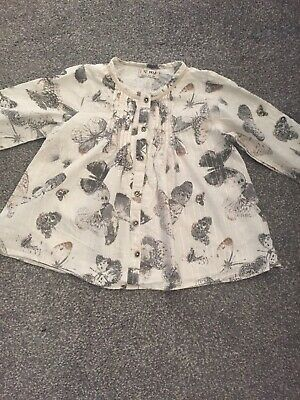 Girls Next Butterfly Shirt Age 3/4 Yrs Old