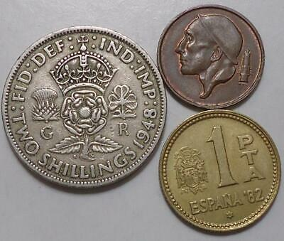 World Coins Lot Of 3 See Pics 0.99 Cents Auction & Free Shipping. (#04)