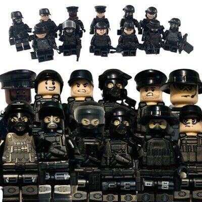 12 Minifigs SWAT Tactical Weapons Military Mini-figures Guns LEGO Minifigures