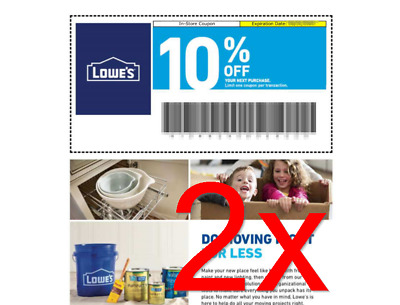 FASTEST Delivery - Lowe's 10% off Coupon TWO 2x - In-Store ONLY - With Barcode