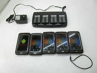 Qty-5 Honeywell Dolphin Black 70E Android W/Common Qc Charger & Batteries T13-D9