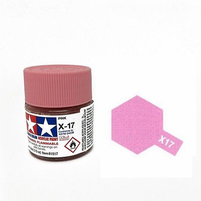 Tamiya X17 Colore Acrilico Lucido Rosa Pink 10 Ml   Art 81517