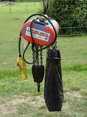 CM LODESTAR 3000KG 3 Ton 110v 6m Single Phase Electric Chain Hoist