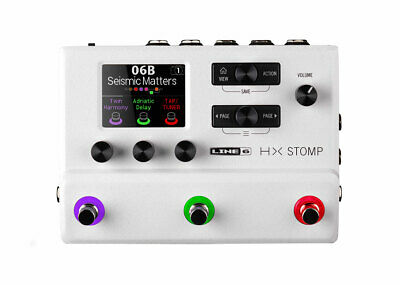 Line 6 HX Stomp Multi-Effects Processor Limited Edition - White