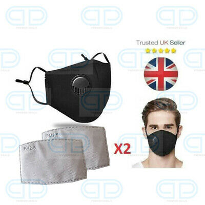 Adjustable Reusable Protective Anti Virus Face Mask Filter - Washable Breathable