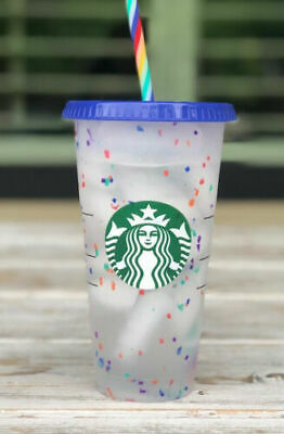 Starbucks Confetti Color Changing Cup Rainbow Straw Pride Summer 2020