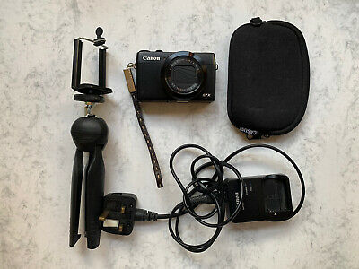 Canon PowerShot G7X 20.2MP Digital Camera, Tripod, Case And Charger Vlogging