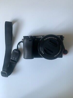Sony Alpha A6000 24.3MP with 16-50 mm with charger and 3 batteries