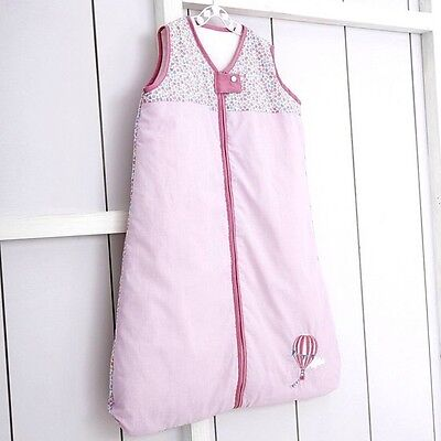 BABY SLEEP BAG GIRLS 0-6 Months 1.7 TOG EMBROIDERED LILAC PINK HOT AIR BALLOON