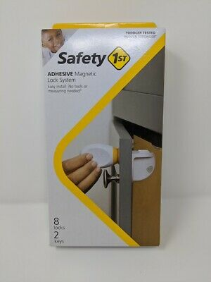 Safety 1st Adhesive Magnetic Child Safety Lock System (Set of 8 Locks & 2 Keys)