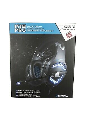 ONIKUMA K1-B Pro Stereo Surround Gaming Headset for PS4 New Xbox One PC w/Mic