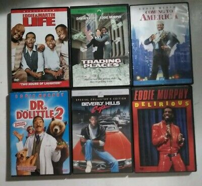 Lot of 6 Eddie Murphy DVD's Life Trading Places Delirious Beverly Hills Cop