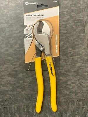 """NEW!! Southwire (CCP9DE) 9"""" High Leverage Dipped Cable Cutters"""