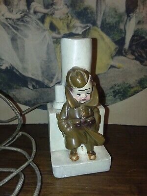 Antique WWI US Army Dough Boy Woolworths Lamp 5in.