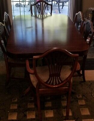 duncan phyfe dining set with 6 chairs