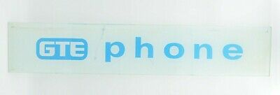"""Vintage GTE Pay Phone Booth 28"""" Glass Insert Telephone Sign Decor"""