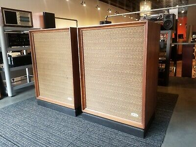 Vintage Allied 2380 Oiled Walnut Speakers w/ Stands - Awesome! Local Pick Up
