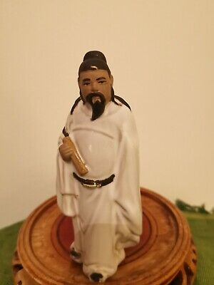 VINTAGE CHINESE MAN SHIWAN MUDMAN FIGURINE Height 13 cm