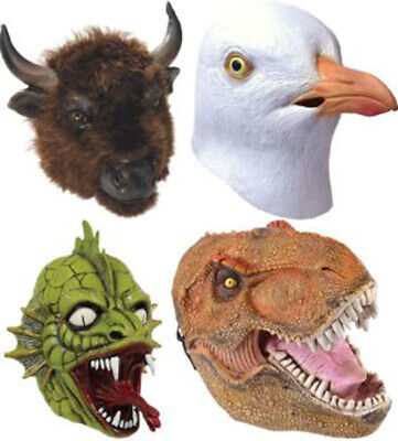 Adult Latex Rubber Wildlife Zoo Animal Mask Fancy Party Costume Accessory