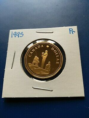 1995 Commemorative UNC Proof Canadian Loonie ($1), No Reserve!