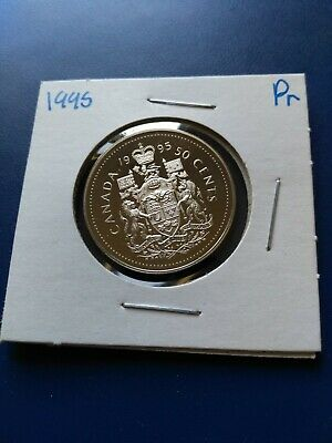 1995 UNC Proof Canadian Nickel Half Dollar (50c), No Reserve!