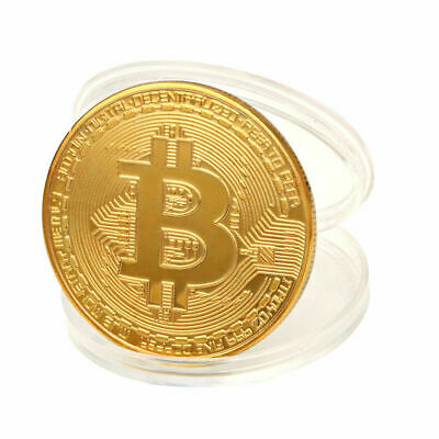 Bitcoin! Gold Silver Copper Plated collectible coin Miner Art Gift
