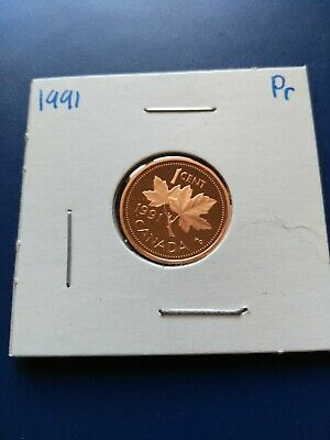 1991 UNC Proof Canadian Small Penny (1c), No Reserve!