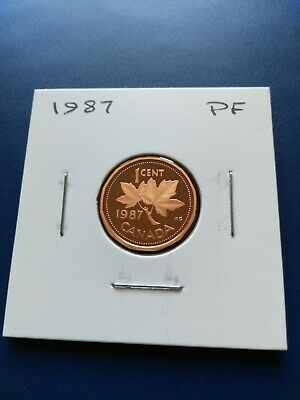 1987 UNC Proof Canadian Small Penny (1c), No Reserve!