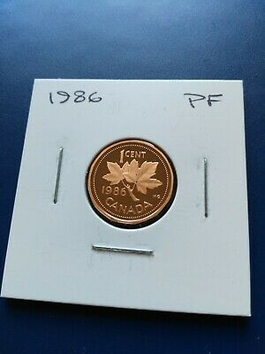 1986 UNC Proof Canadian Small Penny (1c), No Reserve!