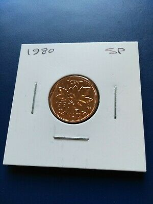 1980 UNC GEM Canadian Small Penny (1c), No Reserve!