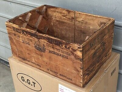 Vintage Scotch Whiskey Wooden Box Crate