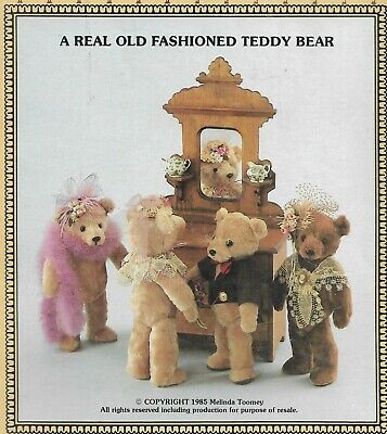 Real Old Fashioned Teddy Bear Doll Pattern-Anything But Ordinary-Bebo & Babette
