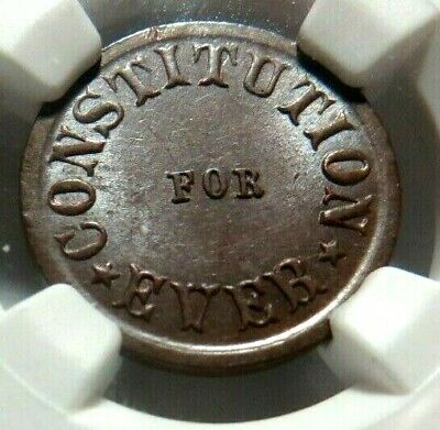 """HIGH GRADE - """" CONSTITUTION FOR EVER """" PATRIOTIC CWT - 242/374a - NGC MS - 65"""