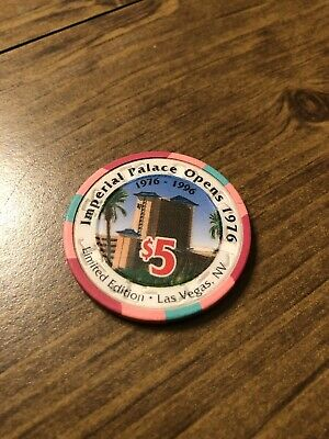 $5 imperial palace 20th anniversary las vegas  casino chip shipping is 3.99
