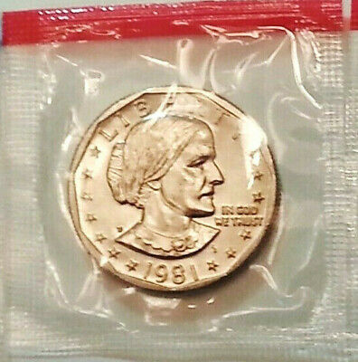 1981 D Susan B Anthony Dollar   *MINT CELLO*  **FREE SHIPPING**