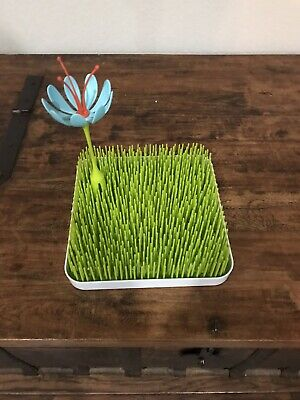 Boon Lawn Countertop Drying Rack - Green With Flower