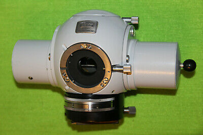 ZEISS Tube Head For Microscope Photomicroscope Universal With Optovar Magnifier