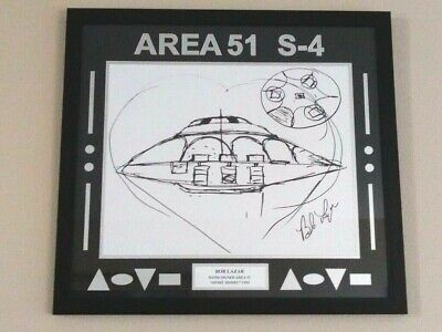 "Bob Lazar Signed Area 51   S-4   ""Sport Model"" UFO Print 24 x 26 Ancient Aliens"