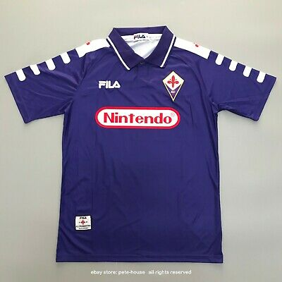 Fiorentina 1998-99 Home Football Shirt Retro Soccer Jersey Batistuta #9