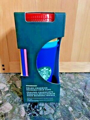 Starbucks 2020 Summer Color Changing Reusable Cold Cup - Choose Color or PRIDE!