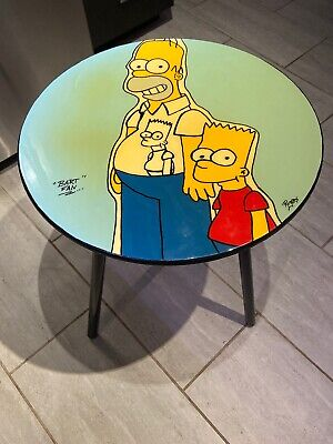 The Simpsons Collector's Table - Homer & Bart Simpson - Great Condition!