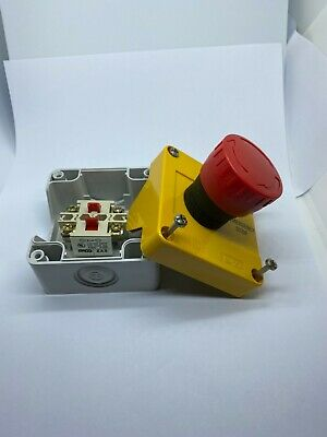 Baco Red E Emergency Stop Push Button w/ Enclosure BX17301-BC NEW
