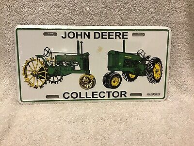 John Deere Collector License Plate Free Shipping