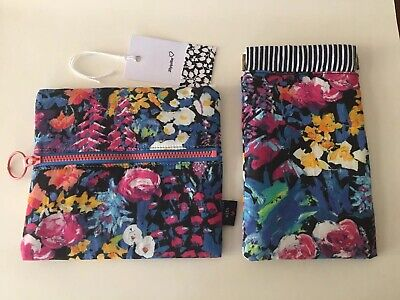 New Handcrafted Liberty of London Jewellery Pouch and Glasses Case Set