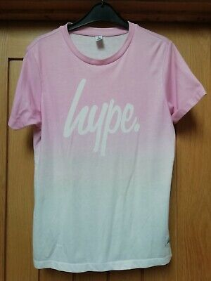 Girls Pink And White Hype T Shirt Age 14 Years
