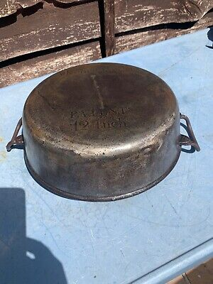 Antique Cast Iron Kenrick Gypsy Fireplace Cooking Pot Pan