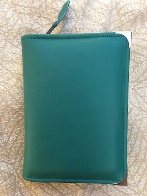 Teal Green  leather bible cover 4 standard Jehovah's Witness Bible (DLbi12-E)