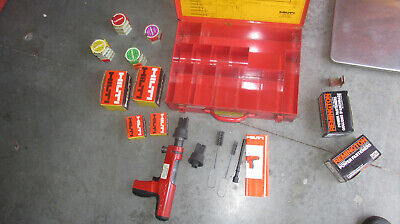 Hilti DX200 Piston Drive Tool Nail Gun kit   MINT & COMBO  (893)