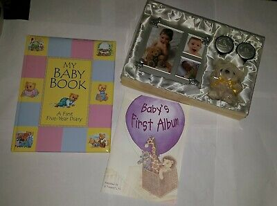 Babys First Years Diary Hard Padded Back, photo frame, and accessories pack