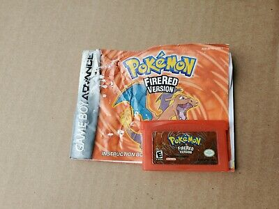 GBA Pokemon Fire Red with manual - (Nintendo Game Boy Advance, 2004)